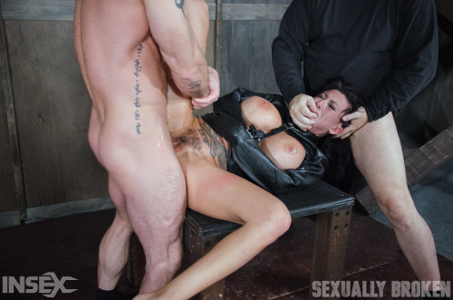 MMF Submissive Sex with Slave Girl, Master, and Friend